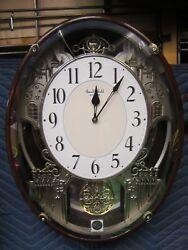 Rhythm Clocks Chateau Musical Motion Clock   4mh865wu23