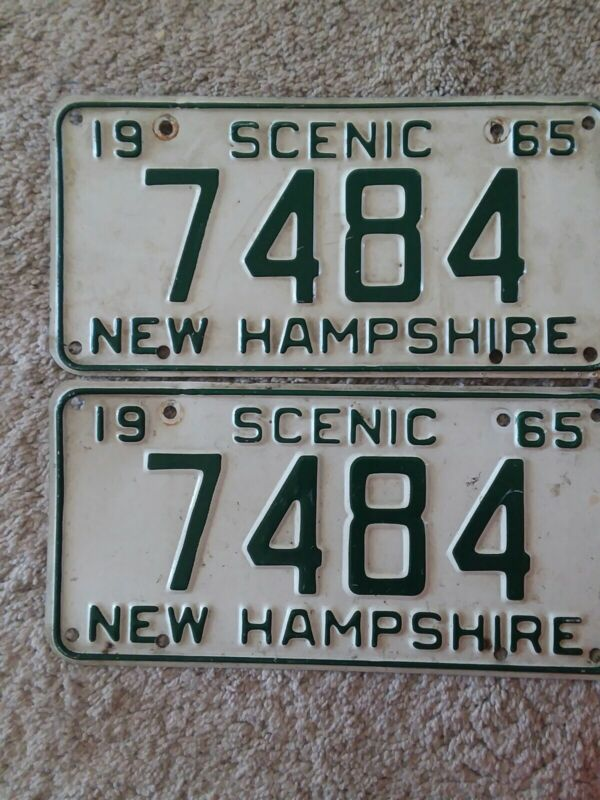 1965 NEW HAMPSHIRE License Plate Pair