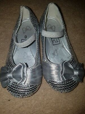 Silver Party Shoes Child Size 6