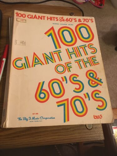 100 Giant Hits Of The 60 s 70 s, Big 3 Music Corp NY PVC Songbook - $4.99