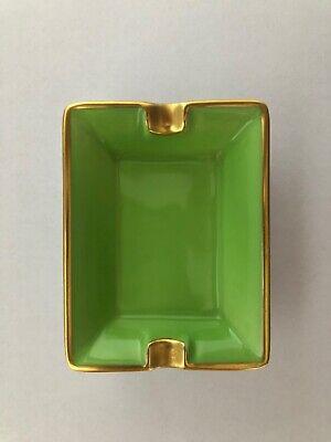 posacenere verde filo oro 24 K originale Porcelain Legle Limoges France