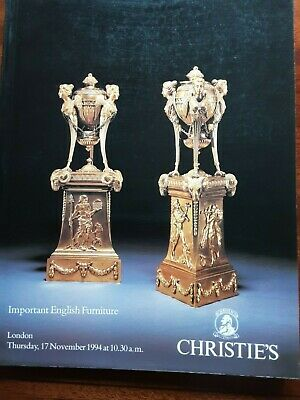 CHRISTIE'S CATALOGUE IMPORTANT ENGLISH Furniture, NOVEMBER 1994,