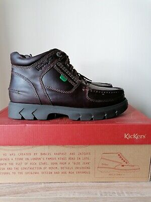 Kickers Mens Lennon Leather Boots In Brown Size 6