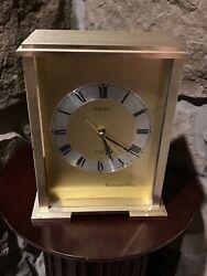 SEIKO Clock Westminster Chime Quartz Mantel Desk Tabletop Shelf Clock Working