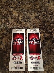 Ice caps tickets
