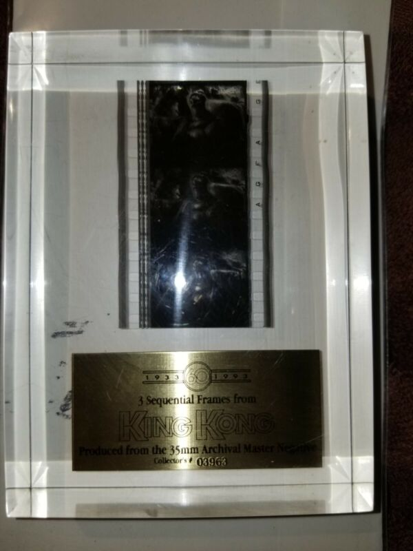 3 Sequential Film Frames 1933 King Kong Movie 35mm Archival Master Negative Ltd.