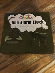 Novelty Target Gun Alarm Clock! New in Box.