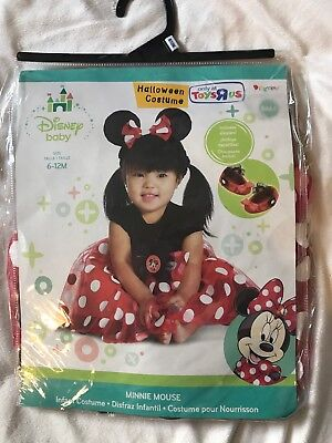 DISNEY BABY Toddler MINNIE MOUSE  Halloween COMPLETE COSTUME sz 6 9 12 mo