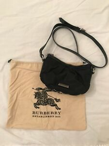 Authentic Burberry black crossbody bag / purse