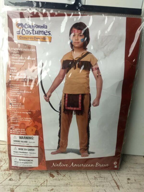New California Costumes Child Boy Native American Brave Indian Halloween ThanksG