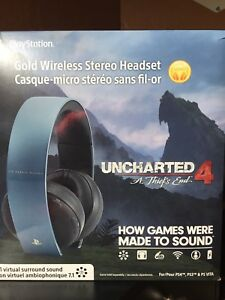 Wireless PS4 Headset Uncharted 4 edition