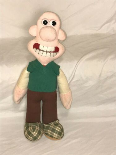 Wallace & Gromit Plush Stuffed Doll Toy 1989 Vintage Sweater Vest Cartoon