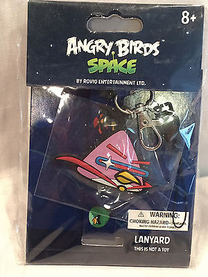 Pink Angry Birds Space Lanyard Key Chain Soft Necklace 92544 New In Package