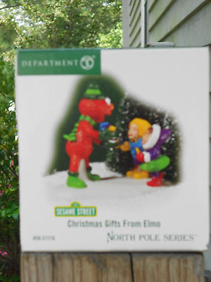 DEPT 56 NORTH POLE VILLAGE Accessory CHRISTMAS GIFTS FROM ELMO NIB *Read*