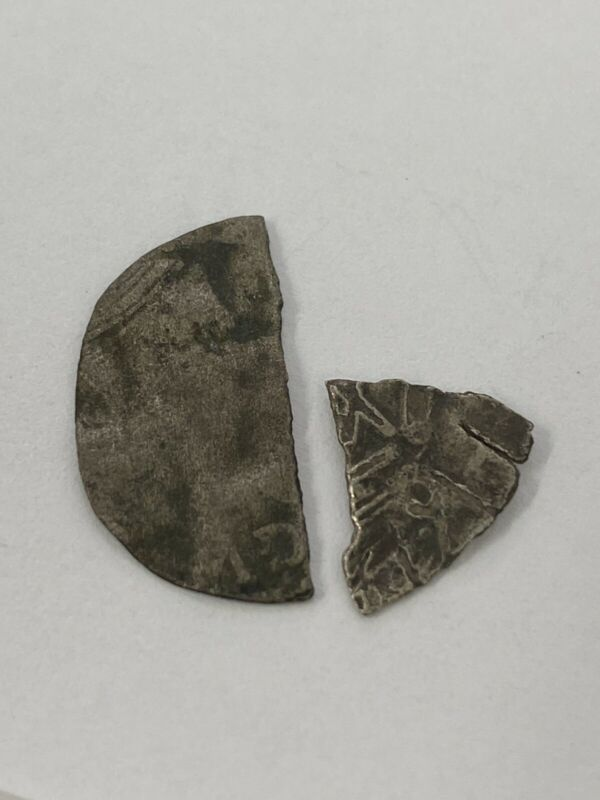 RARE 18TH-EARLY 19TH CENTURY IROQUOIS INDIAN FUR TRADE SILVER PIECES OF 8 EIGHT
