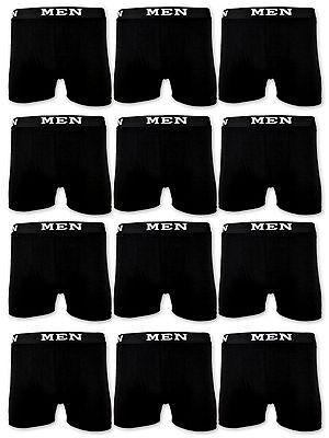 4 | 10 | 20 Boxershorts Baumwolle Herren Retro Shorts Schwarz Unterhosen