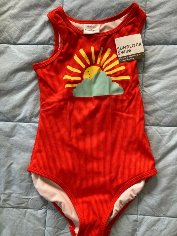 Hanna Andersson girls bathing suit, size 10 (140 cm), NWT