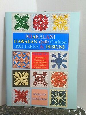 Hawaiian Poakalani Quilt Patterns Anthurium Orchid Torch Ginger Bird of Paradise Orchid Quilt Pattern