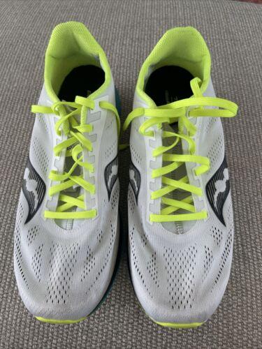 Men's Running Shoe Saucony Endorphin Pro White Mutant S20598-10 Size 11.5 NEW