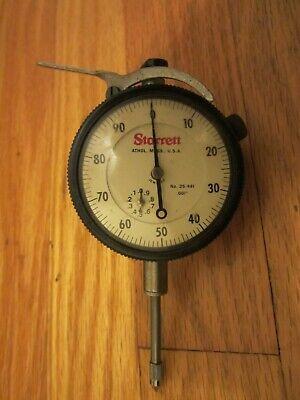 Vtg Starrett No. 25-441 Jeweled Dial Indicator .001
