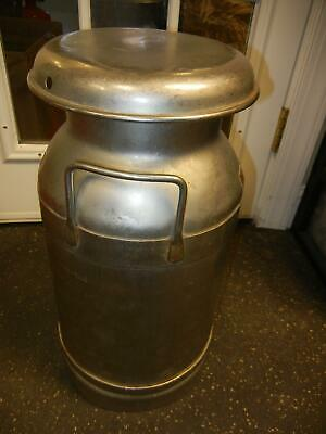 5 Gal Stainless Milk Can Antique Buhl Ohio Sealed 0 - 20 Qts