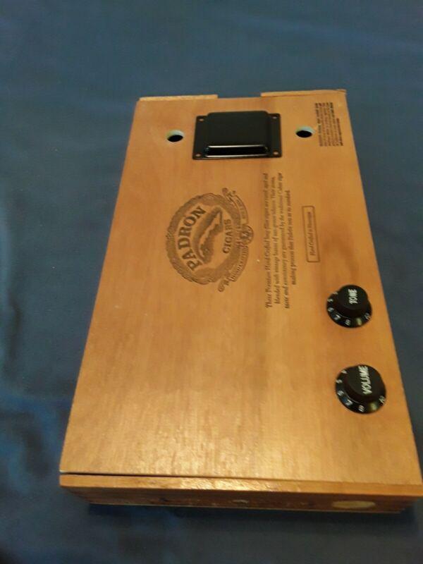 CIGAR BOX GUITAR-Magnetic Humbucker surface mount  pickup +controls . (Black)