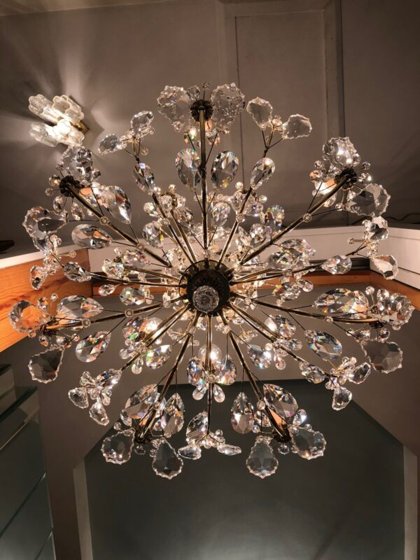 Ethereal Vintage Schonbek 14-light Primrose Floral Swarovski Crystal Chandelier