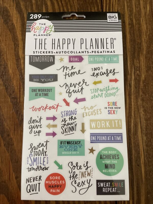 THE HAPPY PLANNER FITNESS STICKERS 289PCS