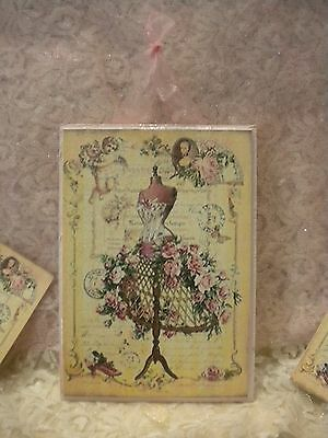 Shabby Chic Vintage Paris Hanging Plaque of Dress Form