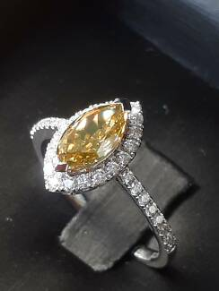 1.47 ct Fancy Colour Diamond Ring- Valued $12K