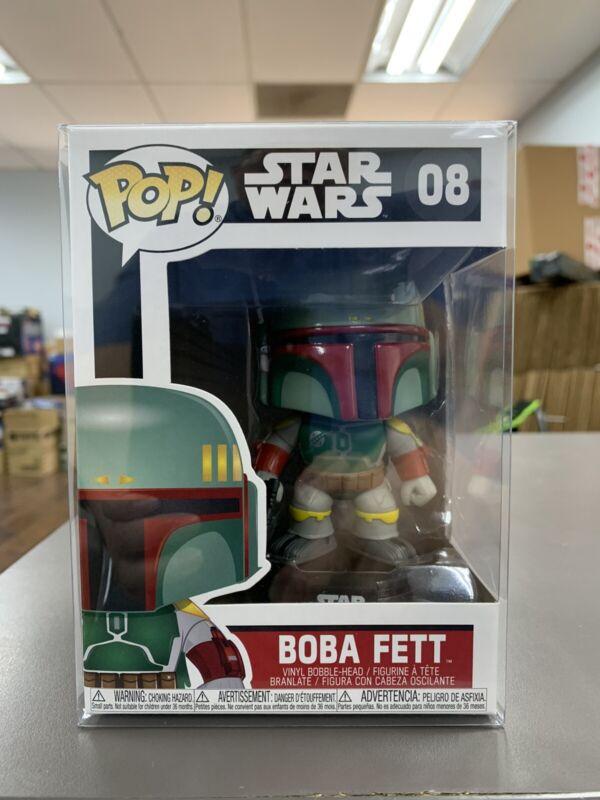 Star Wars Boba Fett #08 Vinyl Bobble-Head Figure Funko Pop Bundled with Pop Box Protector Case