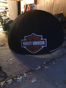 Harley Davidson 1/4 ball awning for a man door entrance