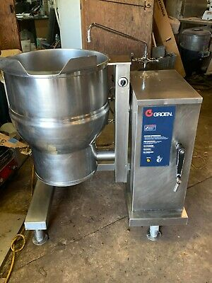 Used Tilt Kettle Groen Dee4-20 Electric Steam Jacketed Tilting Kettle 20 Gallon
