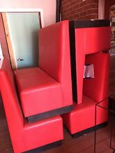 Red leather sofas Secret Harbour Rockingham Area Preview