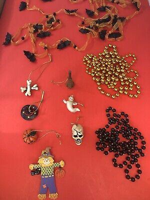 ORNAMENT SET xmas christmas tree ornaments Pumpkin Skull (Halloween Xmas Tree)