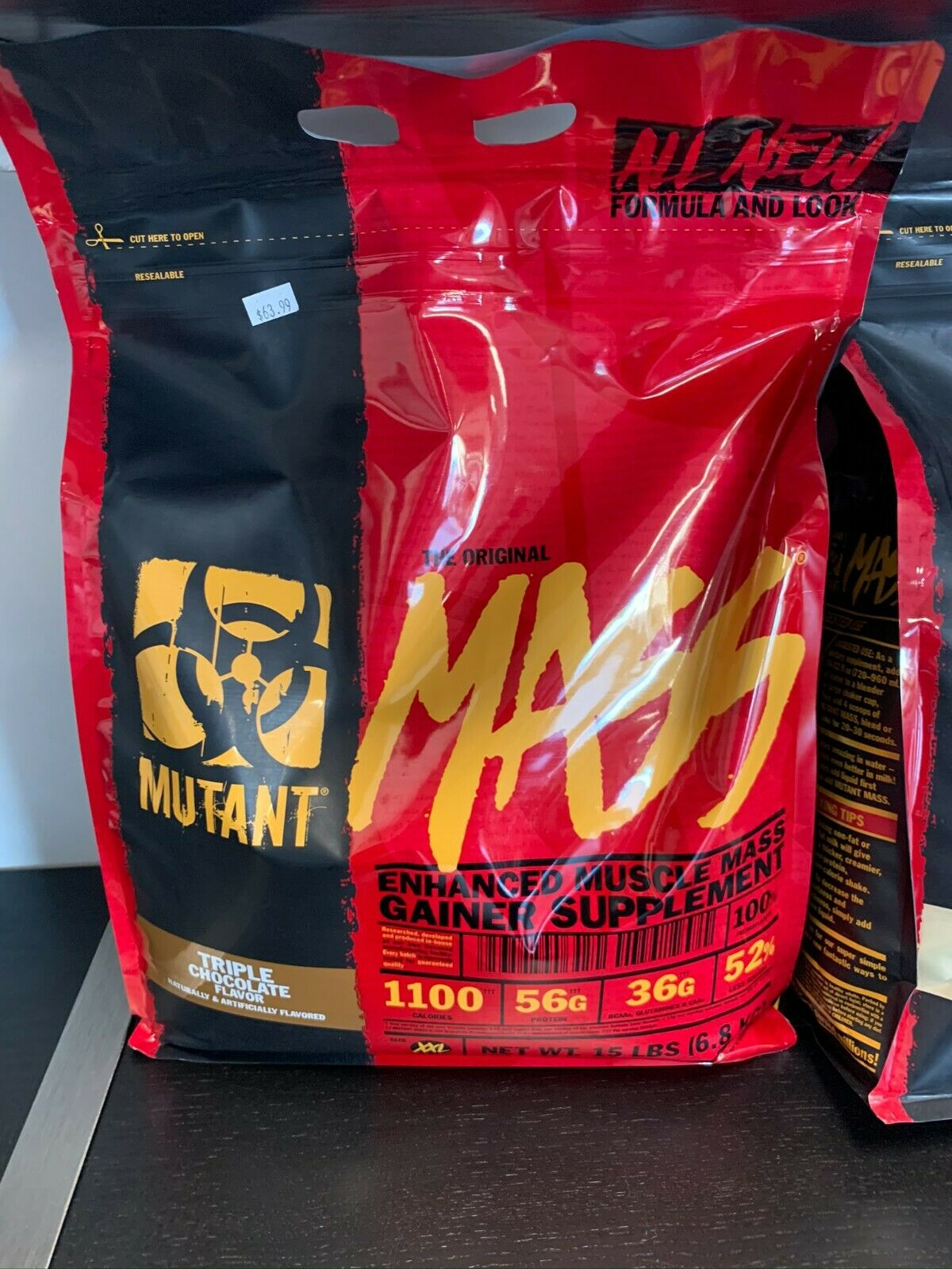 Mutant Mass- Mass Gainer 15lbs Chocolate Fast Free Shipping