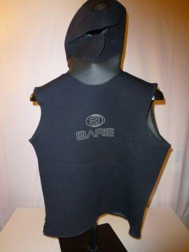 BARE Wetsuit Hooded Vest, Zipper, Size Unknown, Measurements in Description