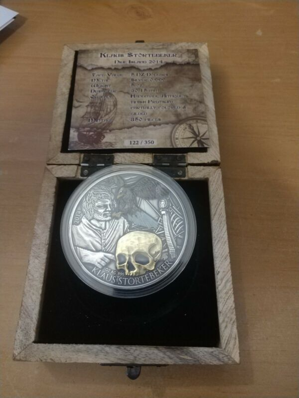 2014 Niue 5$ KLAUS STORTEBEKER Pirate Of The North Silver 5 Oz Silver Coin 27000