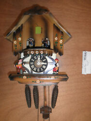 Cuckoo Clock German Black Forest working SEE VIDEO Musical Chalet 1 Day CK2133