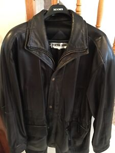 Men's  Dark Brown/ Black  Leather Jacket...