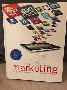 Marketing eighth Canadian edition text book