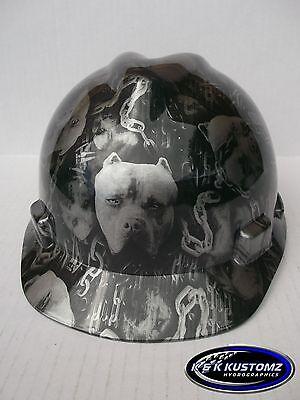 American Bully Pattern Short Brim New Custom Msa V-gard Hard Hat Wfas-trac