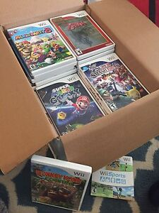 Box of Wii games! Accessories!! Over 50 games!! Best offer!!!