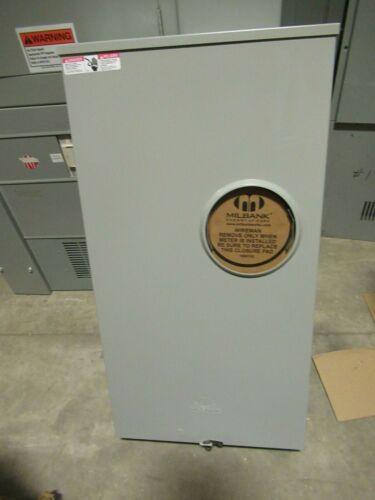 Milbank U2448-X, 320 Amp, 600 Volt, 4 Term W/ Bypass Meter Socket- MB279 -NEW-B