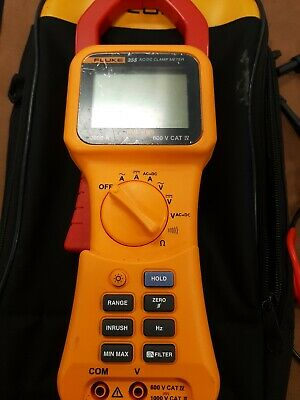 Fluke 355 Acdc Clamp Meter 2000 Amps True Rms - With Test Leads 20270082