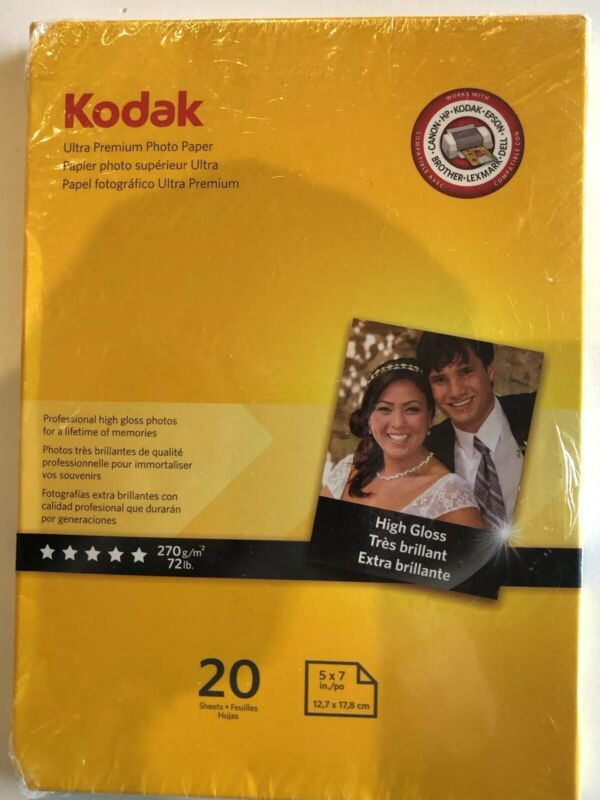 Kodak Ultra High-Gloss Photo Paper White 1801711