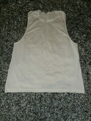 Lululemon Men's L/Large Metal Vent Tech Cream White Sleeveless Tank