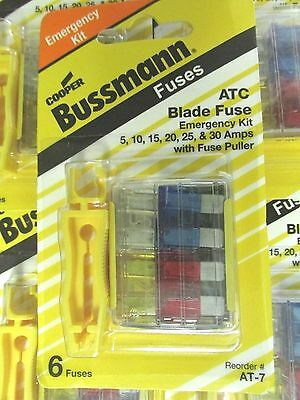 New Bussmann Atc Blade Fuse At-7 Kit 5-30 Amps ...... Xt-10aa