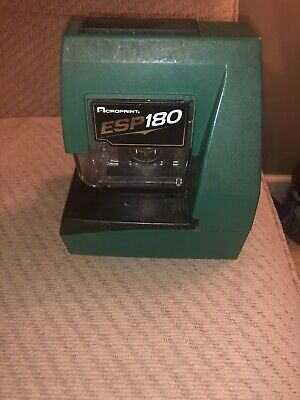 Acroprint Esp 180 Electronic Time Clock. Tested Working. Read Description
