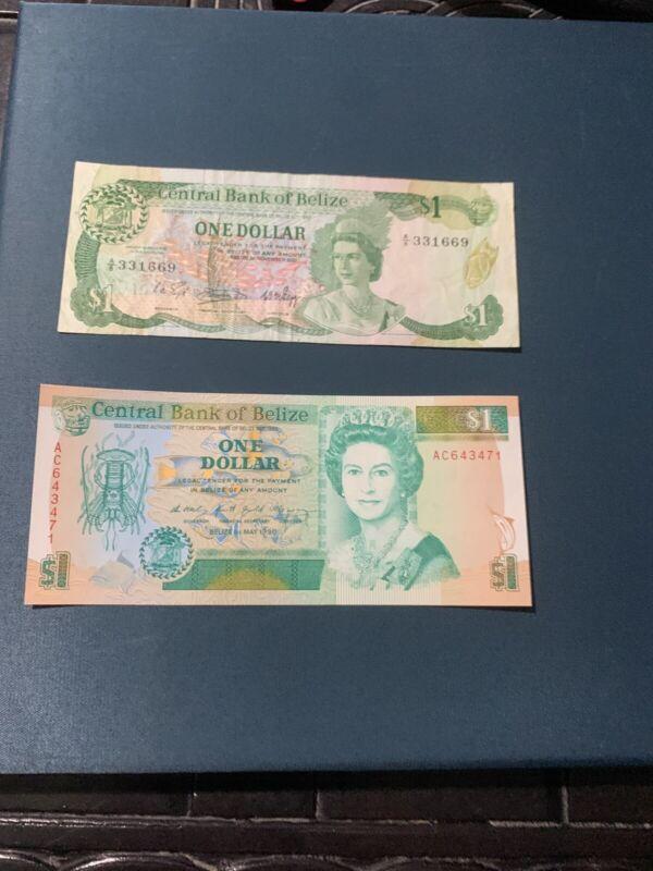 ~ 1983 Belize One $1 Dollar Banknote Elizabeth II P 43 VF 51 Unc